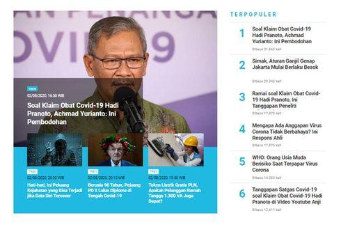 [POPULER TREN] Kontroversi Klaim Obat Covid-19 Hadi Pranoto | Ganjil Genap Berlaku Lagi