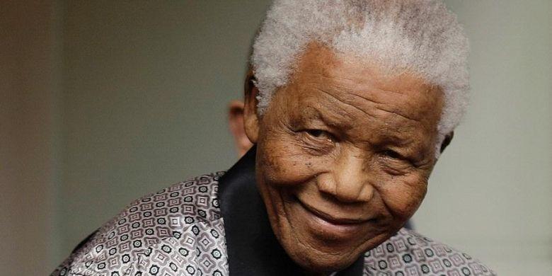 Mantan Presiden Afrika Selatan, Nelson Mandela.
