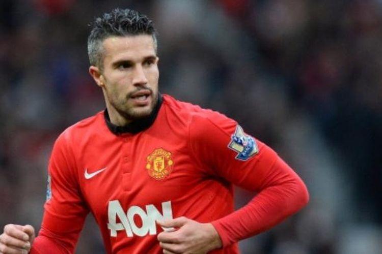 Striker Manchester United, Robin van Persie.