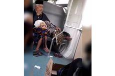 Kisah Cinta Sejati, Nenek Tidur di Pangkuan Kakek di Kereta dan Viral
