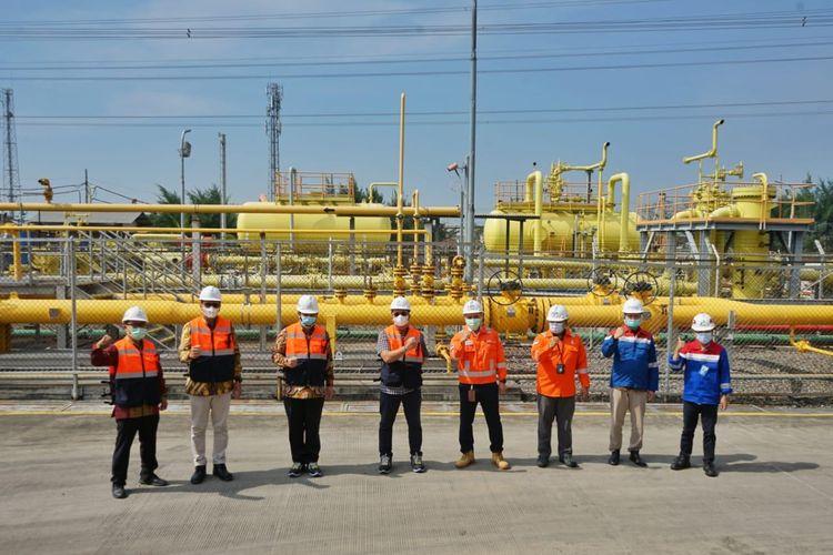 PT Perusahaan Gas Negara Tbk (PGN) meresmikan Jumperline Tambak Lorok, Semarang, Jawa Tengah.