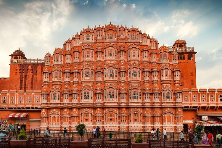Wisata populer di India, Istana Hawa Mahal di Jaipur, Rajasthan, (24/3/2014).