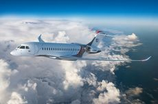 Pesawat Jet Dassault Falcon 10X Meluncur, Terbesar dan Terjauh di Kelasnya