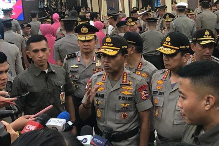 Kapolri Jenderal (Pol) Idham Azis di Rupatama Mabes Polri, Jakarta Selatan, Kamis (6/2/2020).