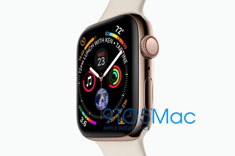 Bocoran foto Apple Watch Series 4, dengan watch face baru dan layar lebih lebar.