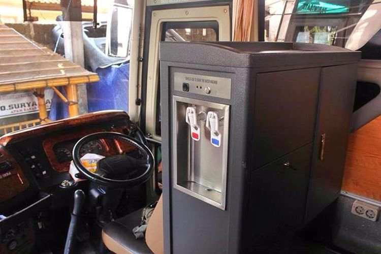 dispenser air di bus