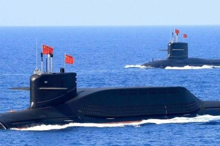 Kapal selam bertenaga nuklir milik militer China pada 2018.
