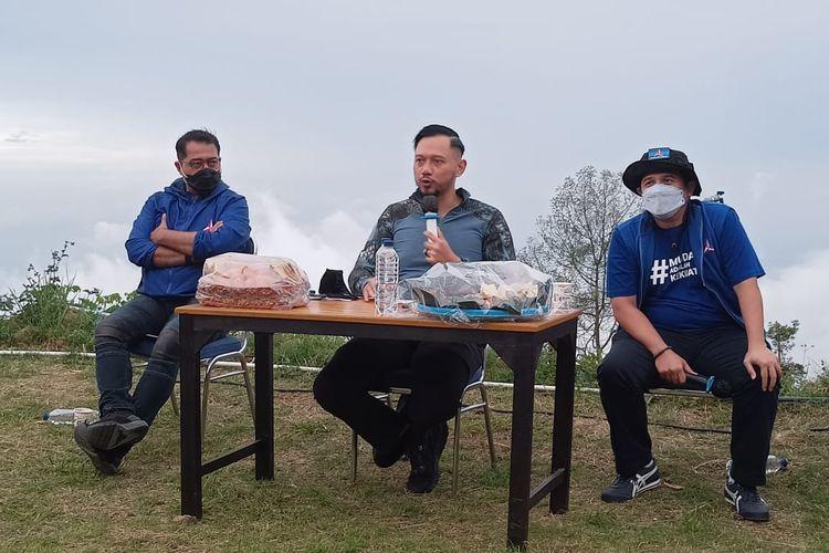 Ketua Umum Partai Demokrat Agus Harimurti Yudhoyono di Umbul Sidomukti Kabupaten Semarang.