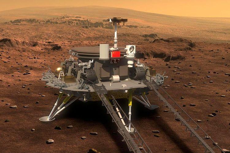 Inilah Zhurong, kendaraan penjelajah milik China yang berhasil mendarat di Mars.