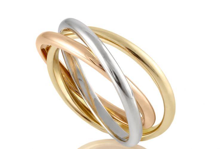 Ilustrasi cincin emas dan platinum