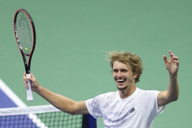 Petenis asal Jerman, Alexander Zverev, berlaga di US Open 2020.