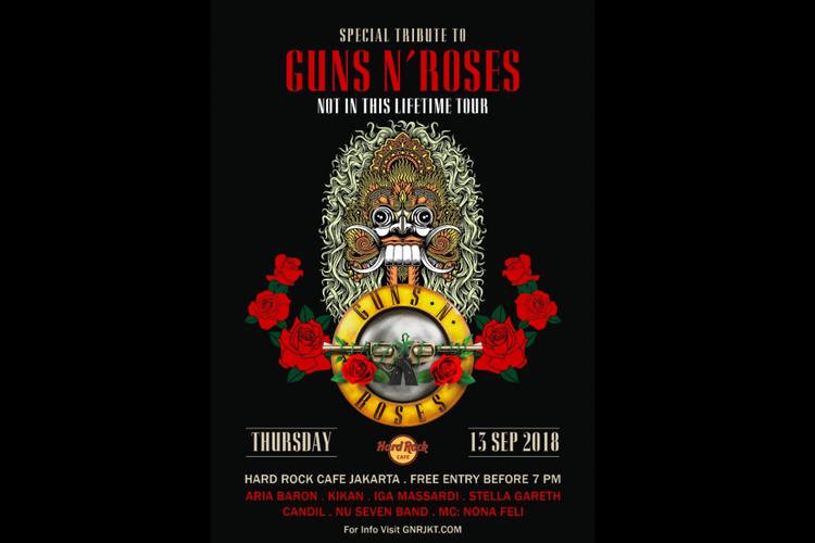 Poster pertunjukan tribute to Guns N Roses