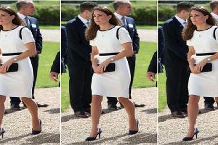 Gaun hitam putih Kate Middleton yang dibeli dengan harga diskom