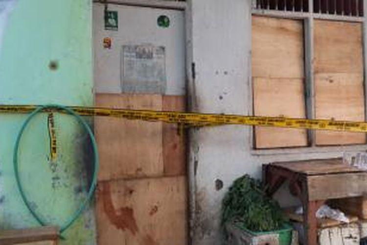 Rumah korban penusukan di Kampung Dukuh, Gang Haji Ridi Sumardi, RT 03/05, Kelurahan Sudimara Selatan, Kecamatan Ciledug, Kota Tangerang.