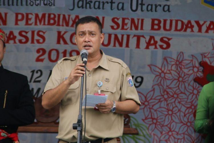 Cucu Ahmad Kurnia saat jadi Plt Kepala Sudin Parbud Jakarta Utara sekaligus Kepala Sudin Parbud Kepulauan Seribu di RPTRA Rasela, Koja, pada 12 Februari 2019.