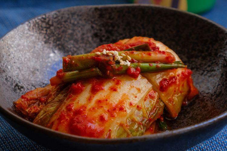 Ilustrasi kimchi rumahan.