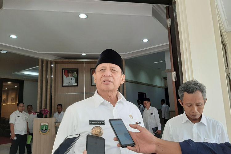 Gubernur Banten Wahidin Halim saat ditemui di Kawasan Pusat Pemerintah Provinsi Banten (KP3B) Kota Serang, Rabu (11/3/2020).