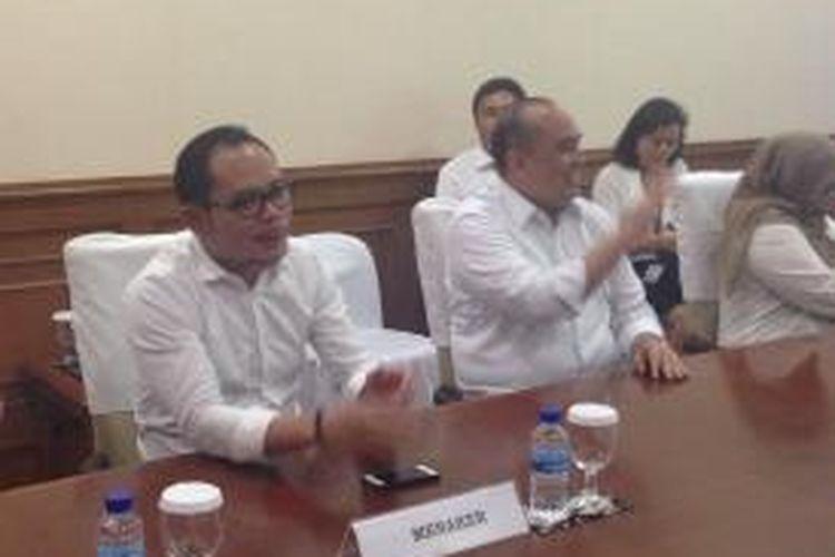 Menteri Tenaga Kerja, Hanif Dhakiri Melakukan Kunjungan ke PT Panasonic Manufacturing Indonesia, Senin (9/3/2015)