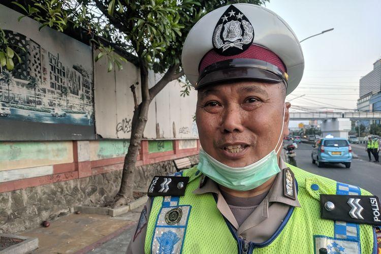 Aiptu Aris Rusjana, Polantas yang sabar saat dibentak-bentak pengendara mobil yang melanggar ganjil genap