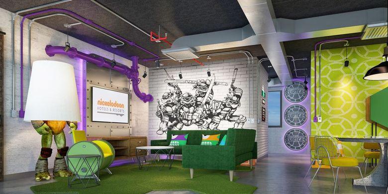 Sebuah suite bernama The Lair Suite di Nickelodeon Hotels & Resorts Riviera Maya yang dikelola oleh Karisma Hotels & Resorts, Meksiko (dok. https://www.karismahotels.com/).