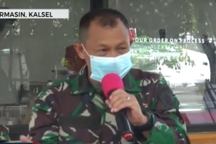 Kapten Inf Noor Ikhlas, anggota TNI yang sembuh dari virus corona.