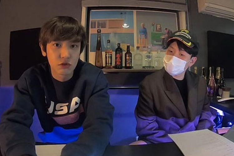 Chanyeol EXO saat live di YouTube Studio NNG