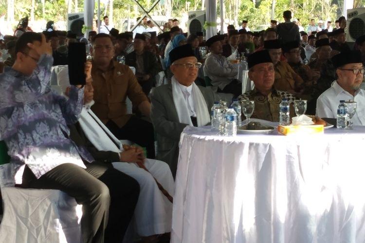 Kiai Haji Maruf Amin dalam acara Munas MUI di Kuta Mandalik, Lombok, Jumat (11/10/2019).