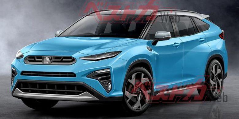 Rancangan desain Toyota Crown versi SUV yang juga diusulkan.