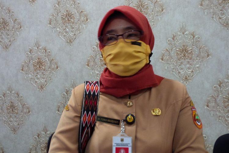 Juru Bicara Satuan Tugas (Satgas) Penanganan Covid-19 Sukoharjo juga sekaligus Kepala Dinas Kesehatan Kabupaten Sukoharjo, Yunia Wahdiyati.
