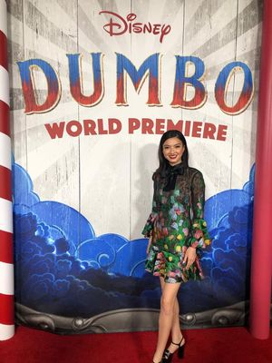 Raline Shah, bergabung dalam kemeriahan World Premiere Disney?s Dumbo yang diselenggarakan di El Capitan Theater di Hollywood, California pada Senin (11/3/2019).