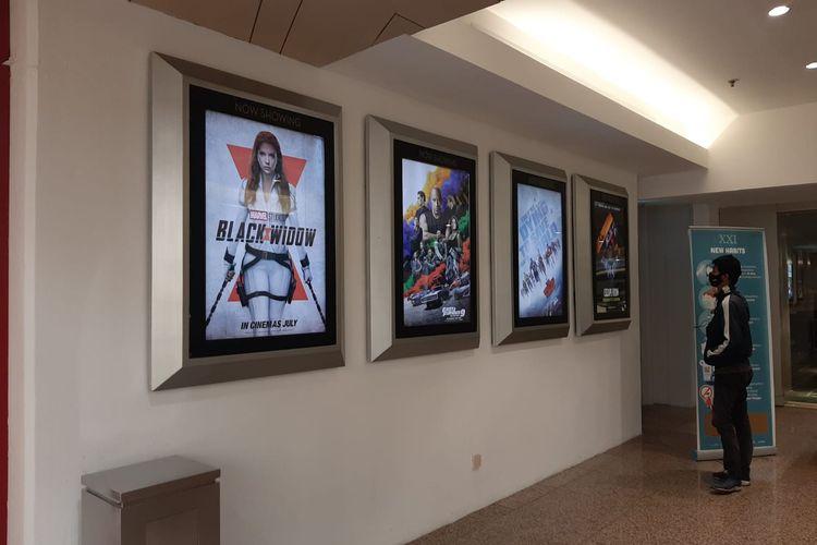 Suasana bioskop Cinema XXI di Blok M Plaza, Kebayoran Baru, Jakarta Selatan, Kamis (16/9/2021) siang.