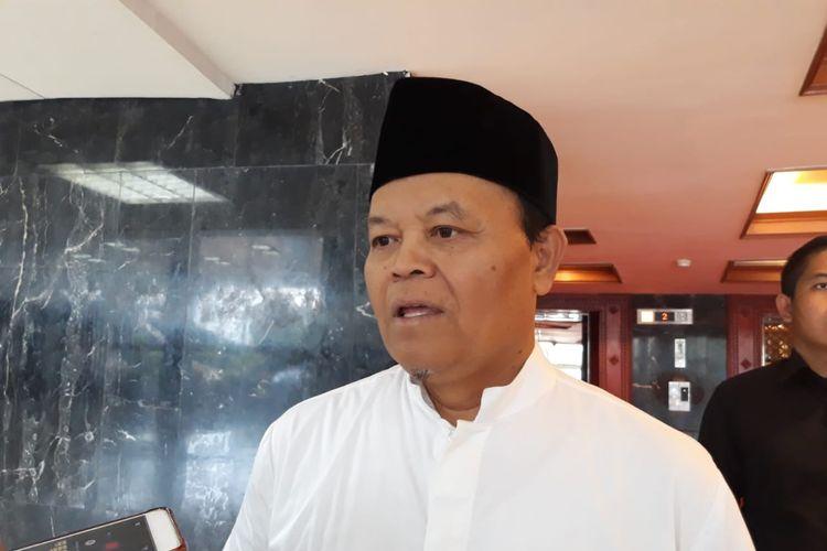 Wakil Ketua Majelis Syura PKS Hidayat Nur Wahid di DPR, Jakarta, Jumat (20/12/2019).