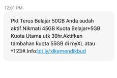 Bantuan Kuota Kemendikbud Sudah Cair, Ini Cara Mengeceknya untuk Pelanggan Telkomsel, Tri, XL, dan Axis