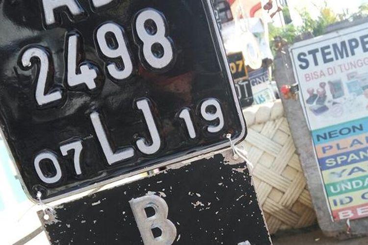 Jasa pembuatan pelat nomor kendaraan