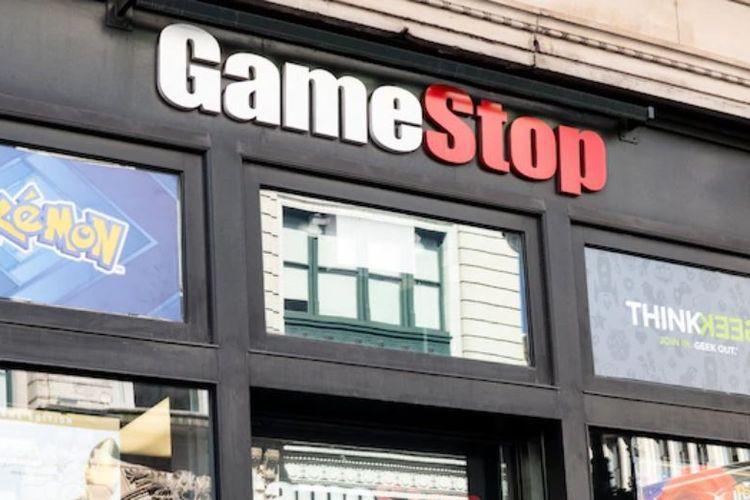 Ilustrasi toko GameStop.