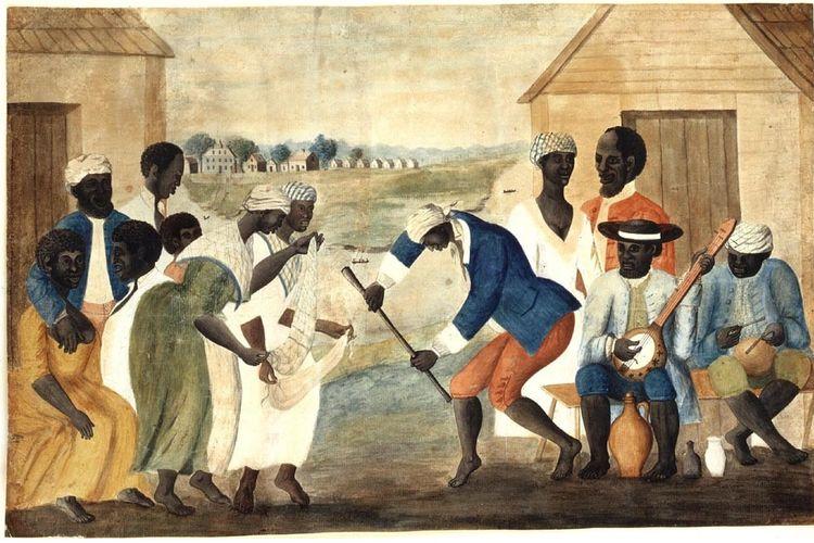 Ilustrasi praktik perbudakan di Amerika pada akhir tahun 1700-an.