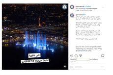 Dubai Pecahkan Rekor Air Mancur Terbesar di Dunia, seperti Ini Bentuknya