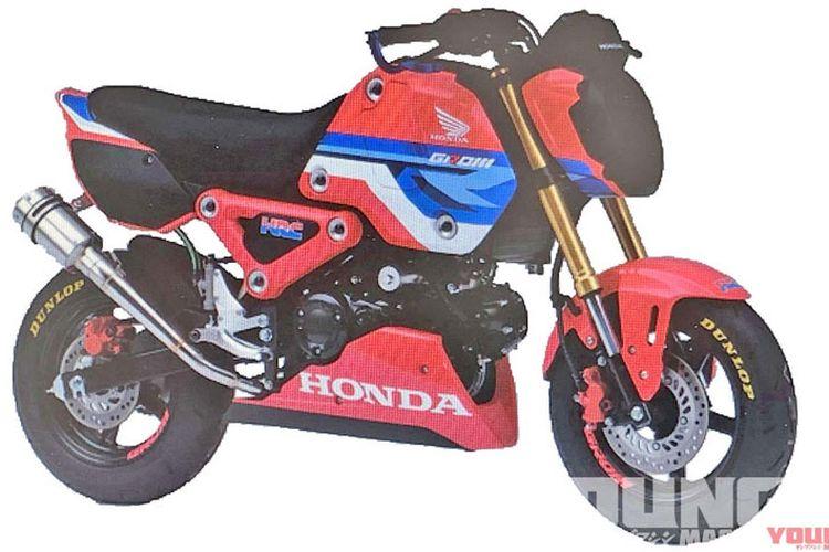 Bocoran gambar yang ditengarai generasi baru Honda Grom