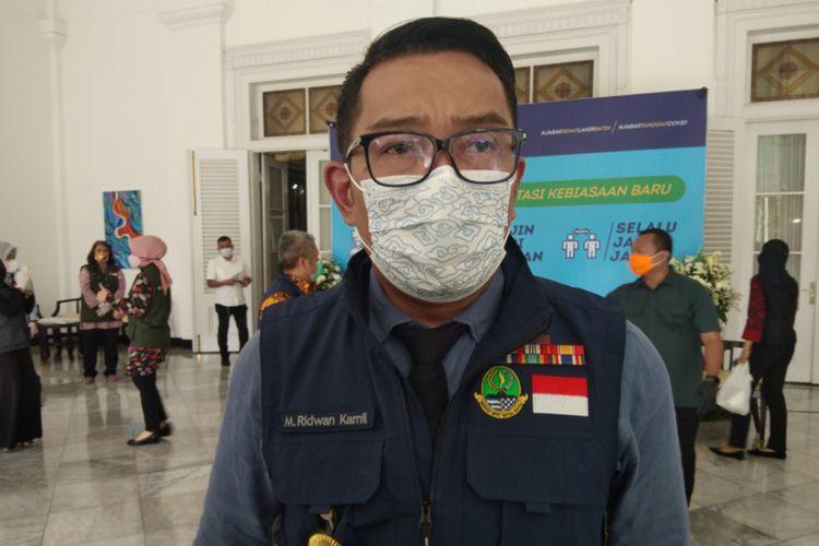 Gubernur Jawa Barat Ridwan Kamil saat ditemui di Gedung Sate, Kota Bandung beberapa waktu lalu.