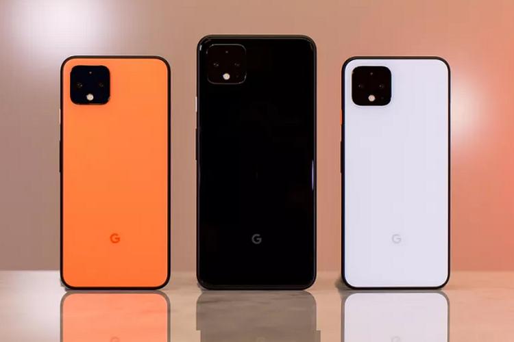 Google Pixel 4 dan Pixel 4 XL tampak belakang.