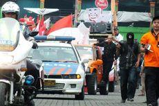 Peserta Kirab Kampanye Damai Kabupaten Bogor Membludak