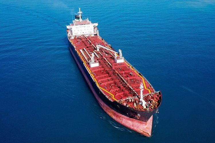 Ilustrasi kapal tanker.
