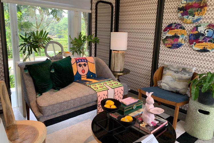 Inspirasi desain ruang tamu dalam pameran Local Heroes yang diadakan Kisah Ruang.