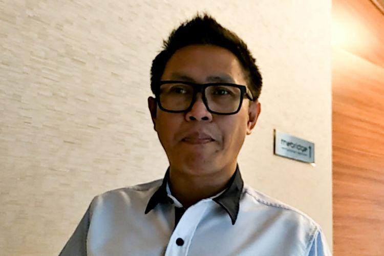 Komedian Eko Patrio saat ditemui di kawasan Rasuna Said, Jakarta Selatan, Kamis (22/3/2018).