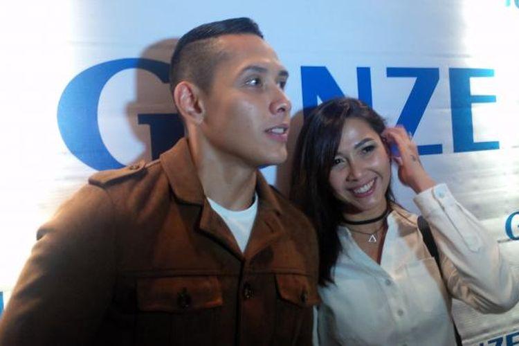 Ganindra Bimo dan Andrea Dian dalam sebuah acara di The Hermitage Hotel, Menteng, Jakarta Pusat, Rabu (12/10/2016).(KOMPAS.com/Tri Susanto Setiawan)