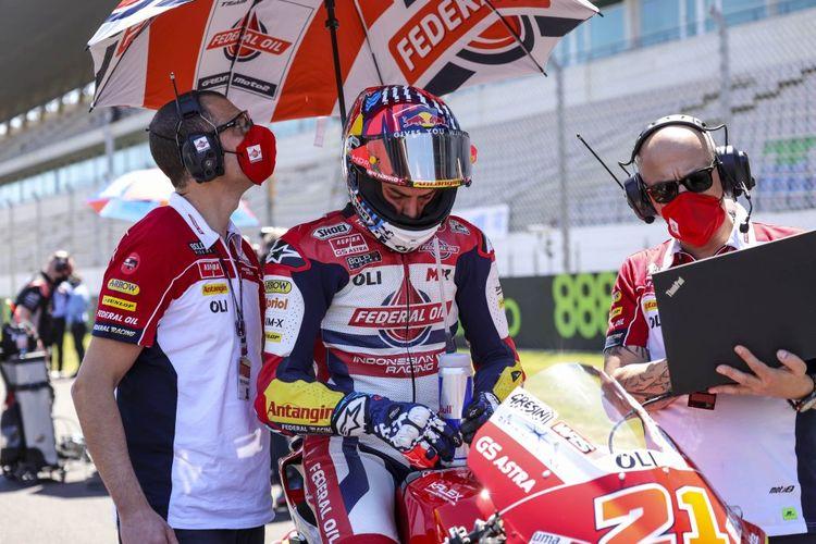 Fabio Di Giannantonio saat balapan di Moto2 Portugal 2021