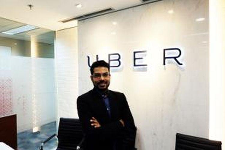 Head of Communication Uber Southeast Asia Karun Arya, Senin (14/12/2015) di kantor Uber Indonesia, Plaza UOB lantai 34, Jakarta