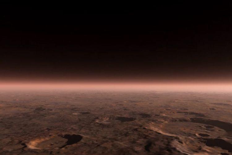 Atmosfer Mars yang tipis