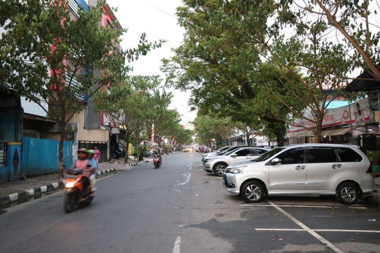 Lokasi jalan Jalan Said Perintah, Kota Ambon, yang sadi salah satu tempat menyecap kopi-kopi asli Ambon.