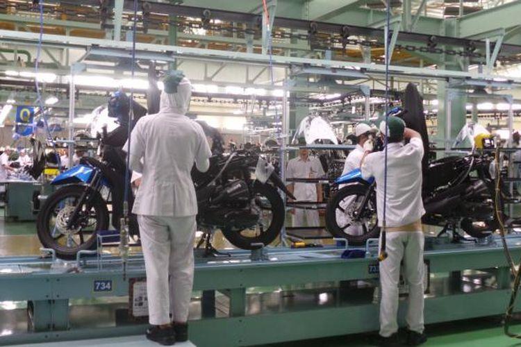 Pabrik sepeda motor Honda yang ada di Indonesia.